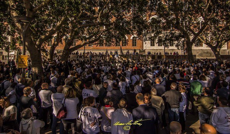 Forestas, doppia manifestazione a Cagliari. Gli scatti di Cristian Mascia durante quella di Piazza Garibaldi