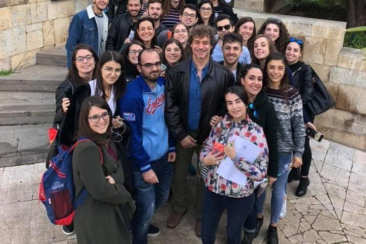 Alberto Angela a Cagliari: il popolare conduttore avvistato oggi in Cittadella dei Musei