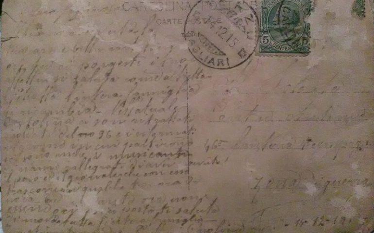 Ricordi di guerra. La cartolina che mandò la famiglia a un soldato nel 1915