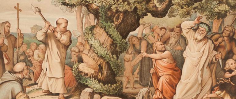 San Bonifacio e la leggenda dell'albero di Natale