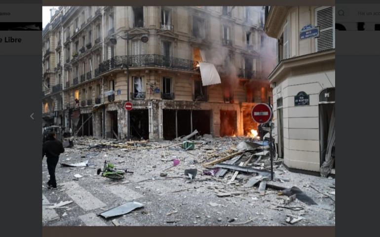 Parigi. Esplosione in una boulangerie del quartiere Opera, diversi feriti