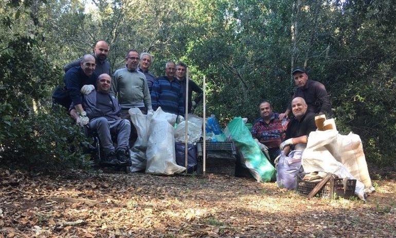 (FOTO) La Trash Challenge approda anche a Villagrande: le foto del prima e del dopo a Santa Barbara