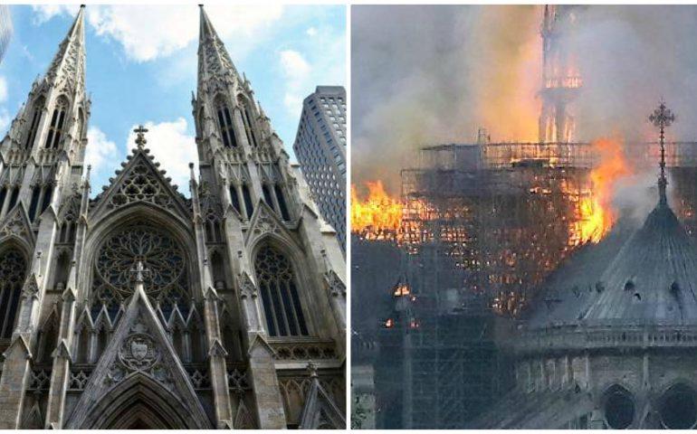 New York (quasi) come Parigi: un uomo tenta di dare fuoco alla cattedrale di Saint Patrick