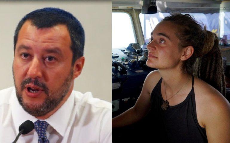 Matteo Salvini indagato per diffamazione nei confronti di Carola Rackete