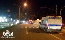 Foto Polizia Municipale: viale Poetto: luogo dove è avvenuto l'incidente venerdì.