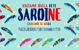 Immagine manifestazione odierna del movimento le Sardine a Cagliari.