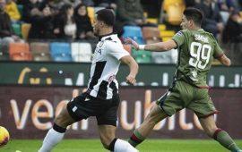 Immagine tratta dalla partita Udinese-Cagliari terminata 2-1.