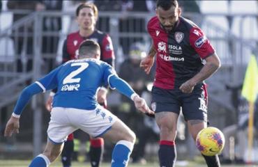 Foto della partita Brescia-Cagliari: Joao Pedro in azione.