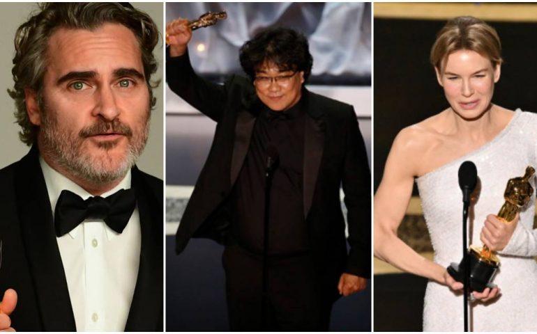 Notte degli Oscar: trionfano Parasite di Bong Joon Ho, Joaquin Phoenix e Renée Zellweger