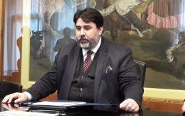 Il Governatore della Sardegna, Christian Solinas, in una foto di repertorio.