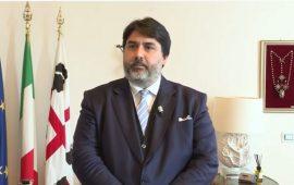 Immagine di repertorio del Presidente della Regione Sardegna, Christian Solinas.