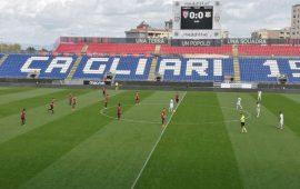 Immagine di repertorio di una partita a porte chiuse alla Sardegna Arena.