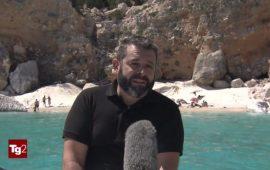 Il vice-sindaco di Baunei, Ivan Puddu, intervistato dal Tg2.