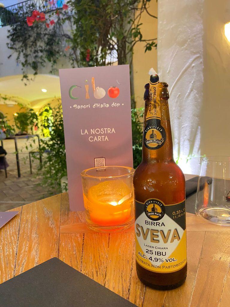 Una delle birre artigianali di Cibò