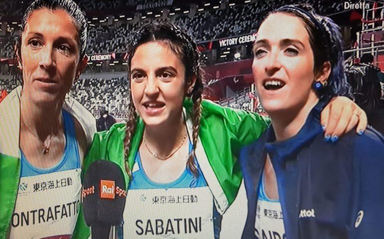 Paralimpiadi, Sabatini, Caironi e Contrafatto: leggendaria tripletta nei 100 metri donne