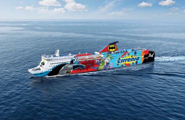 La nave Sharden della compagnia Tirrenia