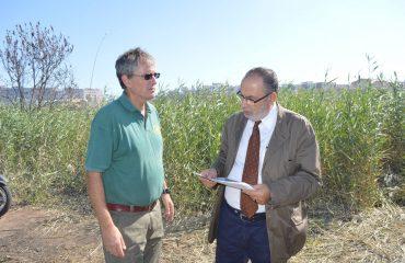 Sopralluogo del sindaco Stefano Delunas a Molentargius