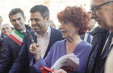 Valeria Fedeli ai 70 anni del Cus Cagliari
