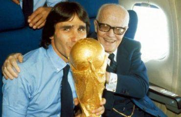 Sandro Pertini e Bruno Conti.