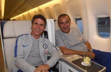 Gianfranco Zola e Maurizio Sarri al Chelsea insieme