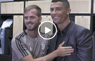 Le prime immagini di Cristiano Ronaldo alla Juventus