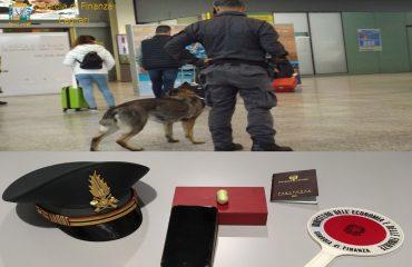 Guardia di finanza cagliari cocaina ovulo aeroporto colombiano