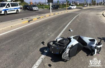 Scooter incidente via Vesalio Pirri