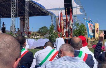 Un'immagine della beatificazione di Edvige Carboni - Foto del presidente Anci Sardegna Emiliano Deiana