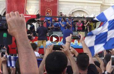 La Dinamo accolta dai tifosi a Sassari