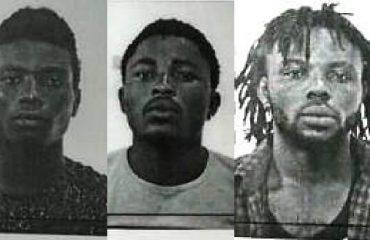 Murphy, Ogbebor e Siwekwu i tre nigeriani arrestati per rapina e violenza sessuale