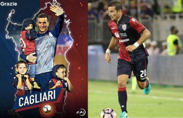Simone Padoin saluta il Cagliari