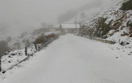 Neve a Fonni, novembre 2019, foto da FB